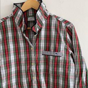 Vineyard Vines lightweight plaid pajama shirt